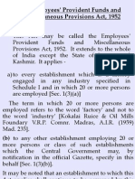 Employee PF and Misc. Provision Act