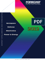 Forecast International Products & Services Catalog 2012