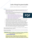 Potential Hazards of Drugs for General Public