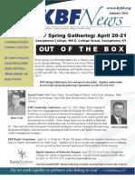 January 2012 KBF Newsletter