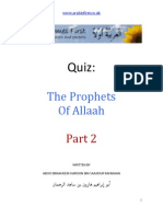 Kids Quiz - The Prophets of Allah Part Two by www.arabicfirst.co.uk