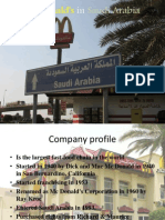 Mc Donalds in Saudi Arabia