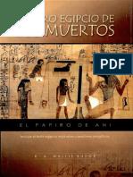 El Libro Egipcio de Los Muertos Escrito Por E a Wallis Budge