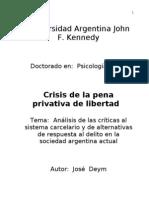 Crisis de La Pena Priuvativa de Libertad - Parte I