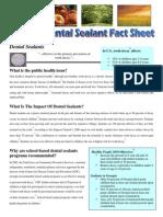 Sealants Fact Sheet