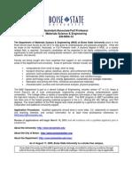 Boise State Faculty Positions Dec 2011 Announcement