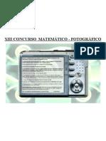 XIII CONCURSO MATEMÁTICO FOTOGRÁFICO