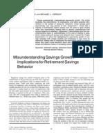 Misunderstanding Savings Growth
