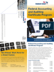 Federal Accouting & Auditing Certificate Program
