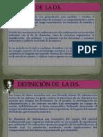 DEFINICIÓN DE  LA DSistemas