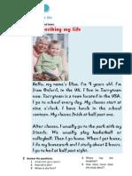 Writing - Describing Your Life