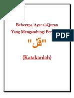Beberapa Ayat Al-Quran Yang Mengandungi Perkataan Katakanlah