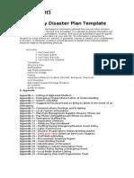 Disaster Prep Plan Template