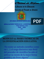 Bases Teoricas de La Invs Educ- 1- 2011 - Copia