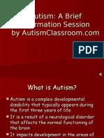 Autism Brief Info Session