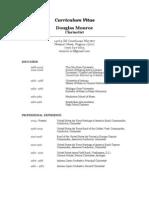 Douglas Monroe Curriculum Vitae