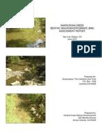 Santa Rosa Creek Benthic Macroinvertebrate Assessment Report