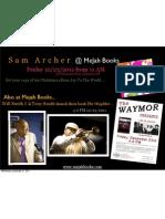 Sam Archer @ Mejah Books