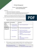 Tutorial 04 - Planning (Project Integration Management & Project Scope Management)