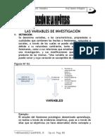 LAS VARIABLES DE INVESTIGACIÓN