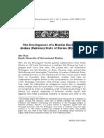 The Development of a Muslim Enclave in Arakan(Rakhine)State, Burma(Myanmar)