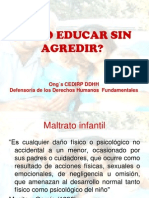 Como Educar Sin Agredir Caceres
