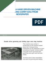 Design of a Hand Driven Machine