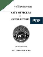 FY2010 Newburyport Annual Report