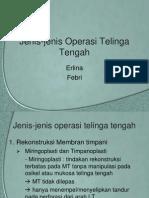 Jenis-Jenis Operasi Telinga Tengah