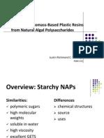 Development of Biomass-Based Plastic Resins from Natural Algal Polysaccharides