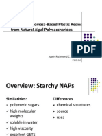 Development of Biomass-Based Plastic Resins from Natural Algal Polysaccharides