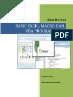Nota Kursus Basic Excel Macro Dan VBA Programming