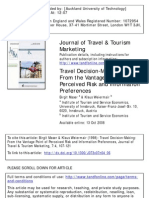 Travel Making- From the Vantage Point of Perceived Risk and Information Preferences