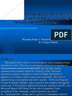 Design and Implementation of Voice Recognition Based Home