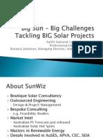 AUSES 2011 - Big Sun – Big Challenges - Warwick Johnston - SunWiz