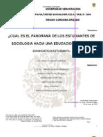 ¿CUAL ES EL PANORAMA DE LOS ESTUDIANTES DE SOCIOLOGIA HACIA UNA EDUCACION VIRTUAL_