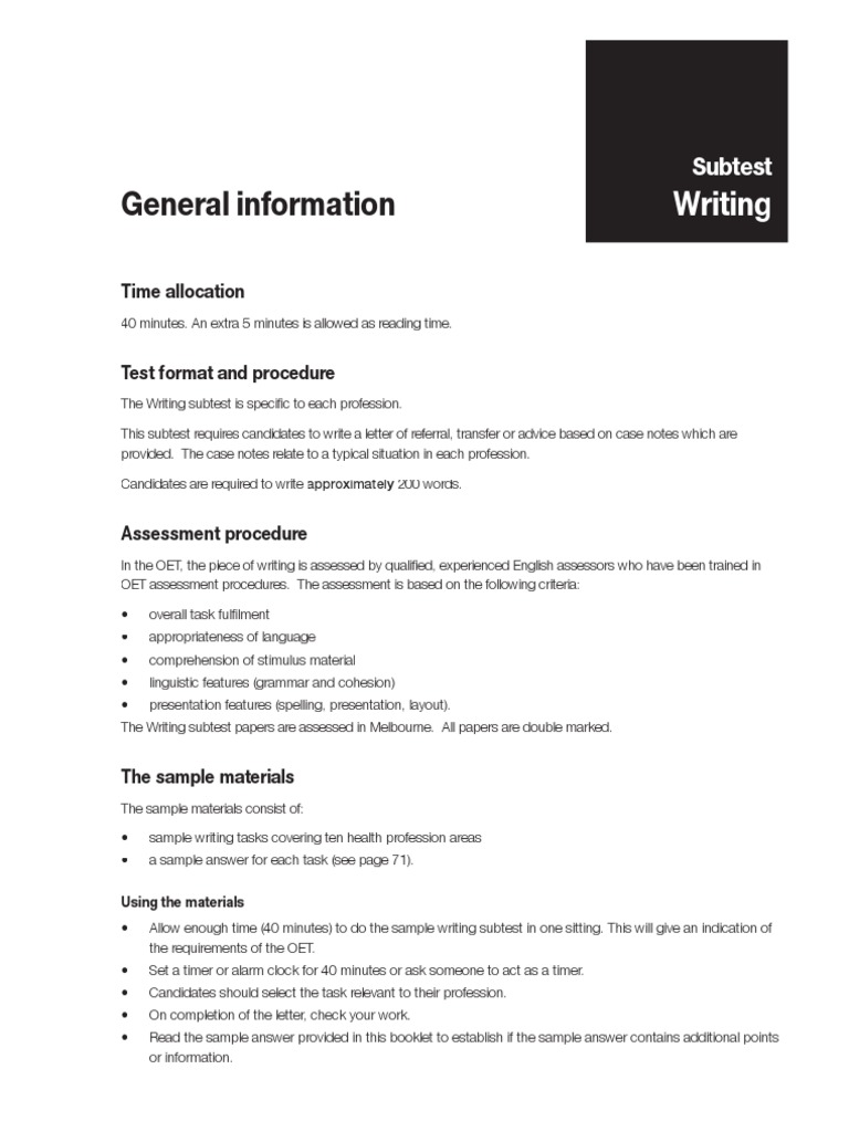 Oral Writing - Exercises and Guidelines