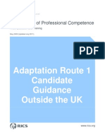 RICS Adaptation - Candidate Guidance Note