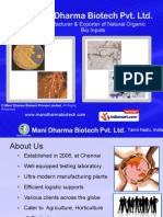 Mani Dharma Biotech Private Limited Tamil Nadu India