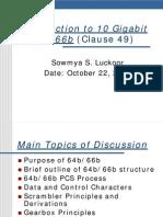 64b66b encoding10GbE_Cl49