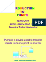 Introduction to Pumps