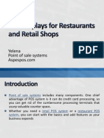 POS Displays for Restaurants and Retail Shops