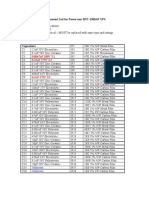 Component List for Powercom BNT