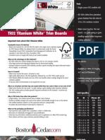 TiO2 Titanium White Trim Board Installation Tips