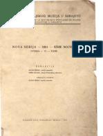 Glasnik Zemaljskog Muzeja 1951./n.s.6(1)