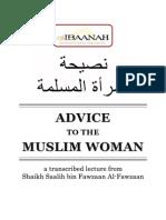 Advice to the Muslim Woman by Shaikh Dr. Salih bin Fawzan al-Fawzan