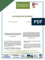 EL SAQUEO DE EUROPA - THE LOOTING OF EUROPE (Spanish) - EUROPAREN HARRAPAKETA (Espainieraz)