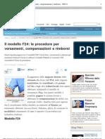 PMI modello F24