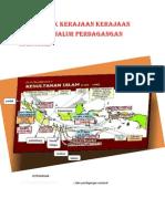 Peta Letak Kerajaan Kerajaan Islam Dan Jalur Perdagangan Nasional Repaired)