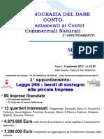 Centri Commerciali Naturali - Ultime Slide Di Presentazione Del Lavoro Sui CCN (Ge. 20119